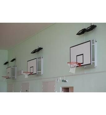 Щит баскетбольный 1200х900 мм (ламинированная влагостойкая фанера 10 мм) с силовой антивибрационной рамой