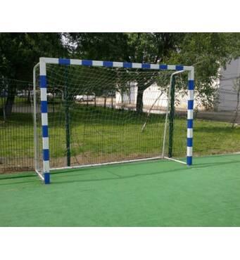 Ворота міні-футбольні 3х2 / гандбольні, розбірні зі смугами, пересувні на колесах