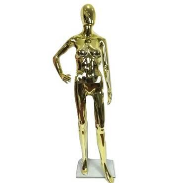 Манекен женский золотой, лакированный