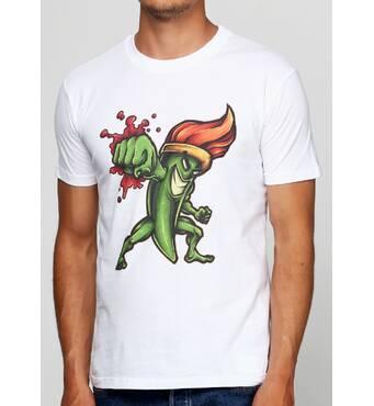 Чоловіча футболка з принтом Brush Fighter Manatki Білий M (11510302)