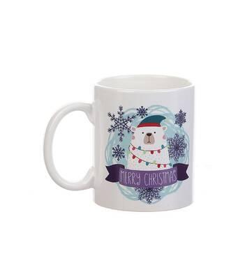 Чашка с принтом Полярный медведь Manatki
