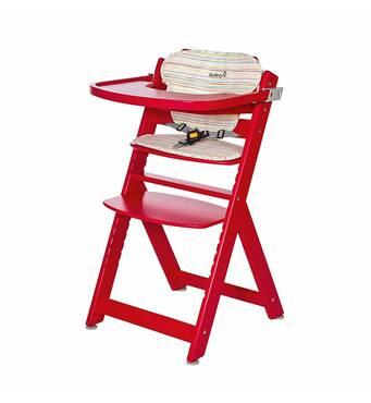 Стільчик для годування Timba червоний с подушкою Red Dot