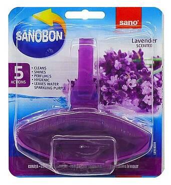 """Засіб для миття унітазів освіжуючий """"Лаванда"""" Sano Sanobon 5*1 Action Lavander 55 гр."""