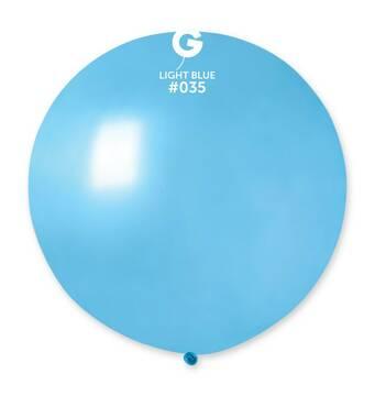 """Шар сюрприз металік блакитний 31"""" (80 см).  Кульки повітряні гіганти Gemar"""