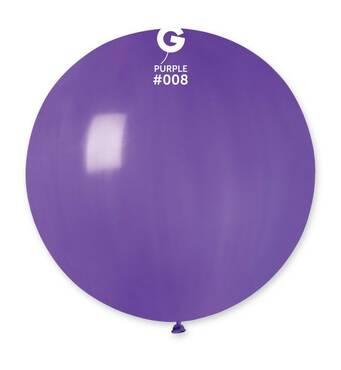 """Шар сюрприз фіолетовий 31"""" (80 см).  Кульки повітряні гіганти Gemar"""
