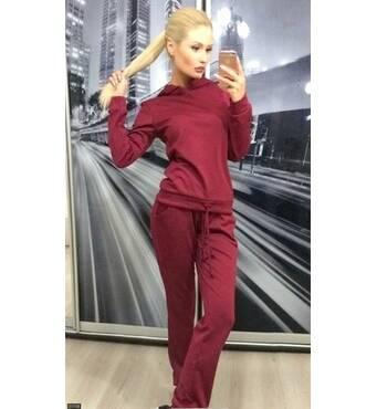 Спортивний костюм 27709 бежевий бордовий смарагдовий червоний сірий чорний Осінь 2016 Україна