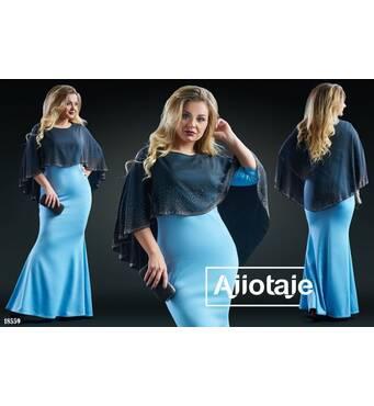 Сукня - 18559 (блакитний)