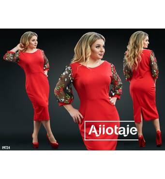 Платье - 19724 (красный)