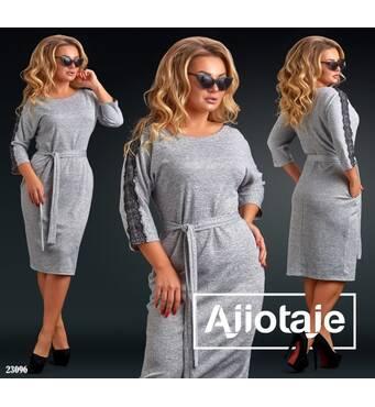 Платье - 23096 (серый)