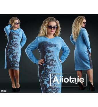 Платье - 18422 (голубой)