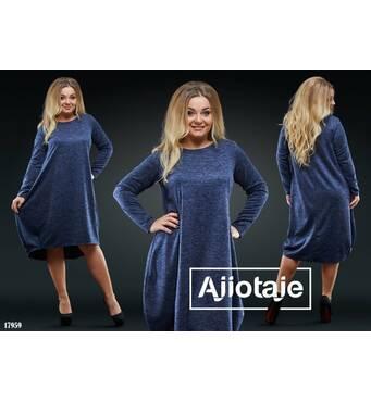 Сукня - 17959 (темно-синій)