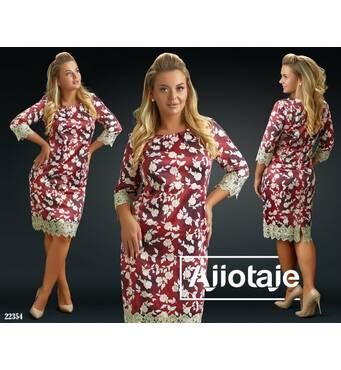 Платье - 22354 (бордовая основа)