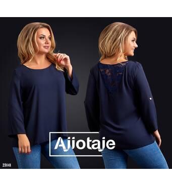 Блуза - 23141 (темно-синій)