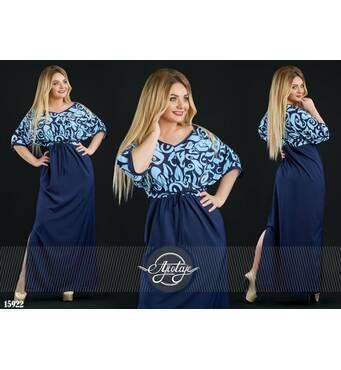 Сукня - 15922 (темно-синій)