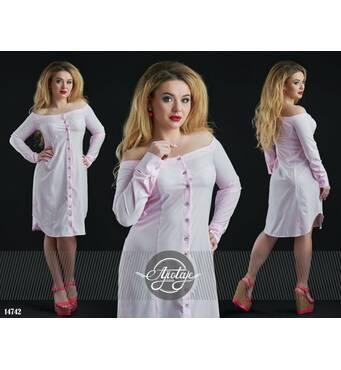 Сукня - 14742 (блідо-рожевий)