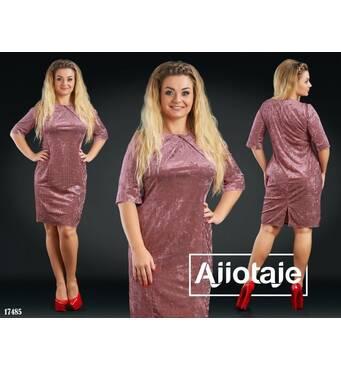Платье - 17485 (бордовый)