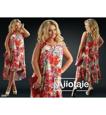 Сукня - 21385 (червоні квіти)