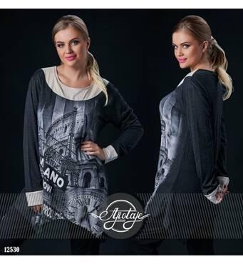 Туника - 12530 (черный)