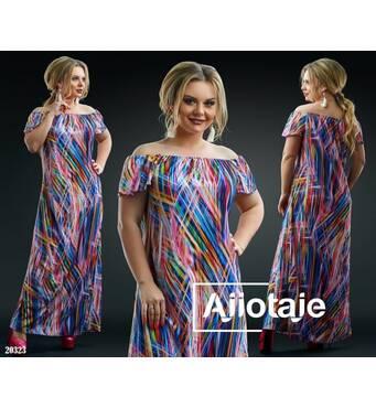 Платье - 20323 (разноцветные полоски)