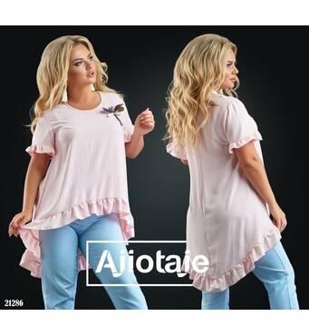 Блуза - 21286 (рожевий)
