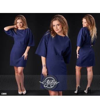 Сукня - 13088 (темно-синій)