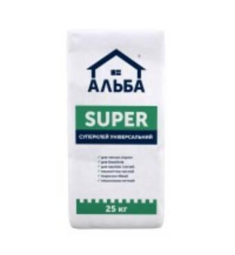 Клей для плитки Альба Super, мішок 25 кг