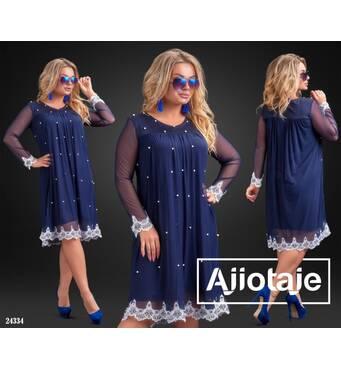 Платье - 24334 (темно-синий)