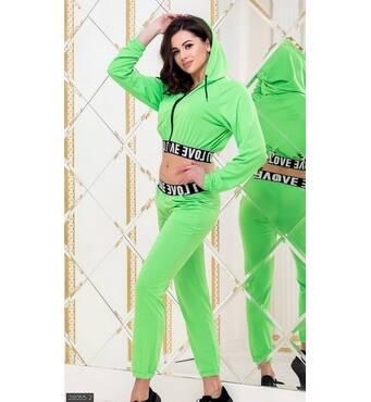 Спортивный костюм 28055-2 зеленый Весна 2019 Украина