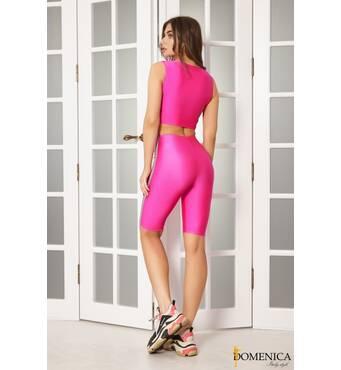 Трендовый  стильний костюм для фитнеса (рожевий)