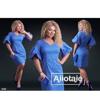 Платье - 25707 (синяя основа)