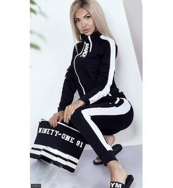 Спортивный костюм 27917 черный Лето 2019 Украина