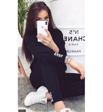 Спортивный костюм 28058-1 черный Весна 2019 Украина