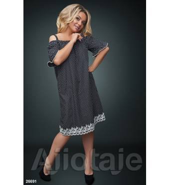 Платье - 26691 (черная основа)