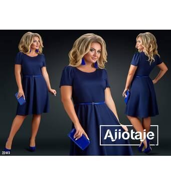 Сукня - 22413 (темно-синій)