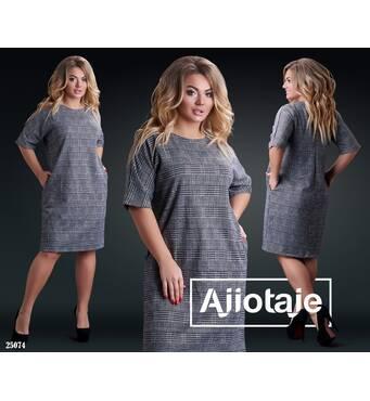 Платье - 25074 (светло-серая клетка)