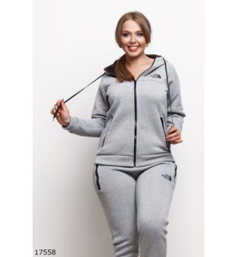Женский спортивный костюм 17558 серый