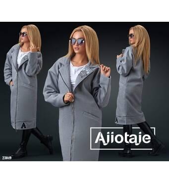 Пальто - 23049 (серый)