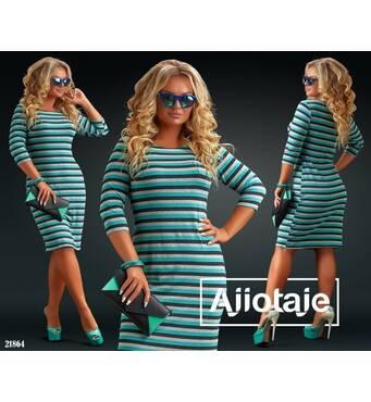 Платье - 21864 (бирюза)
