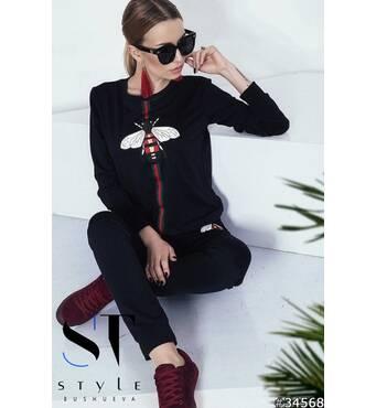 Спортивний костюм  34568 (чорний)