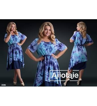 Платье - 25386 (голубая основа)