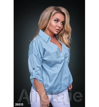 Рубашка - 26513 (голубая основа)