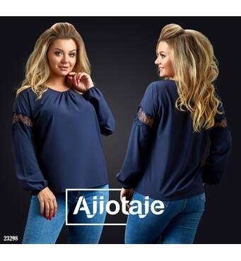 Блуза - 23298 (темно-синій)