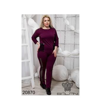 Стильный спортивный костюм  (бордо) - 20870
