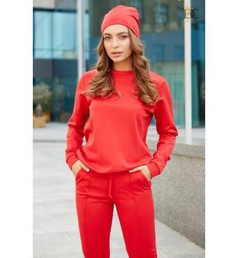 Стильний костюм трійка спорт-шик (червоний)