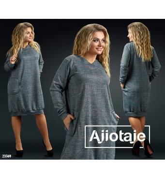 Сукня - 23569 (сірий)