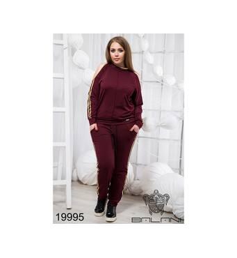 Стильный спортивный костюм  (бордо) - 19995