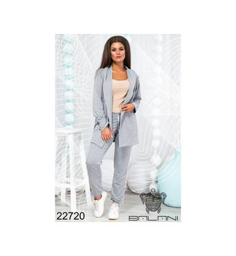 Костюм спортивный с жакетом  (серый) - 22720