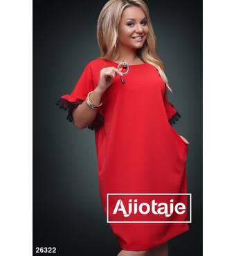 Платье - 26322 (красный)