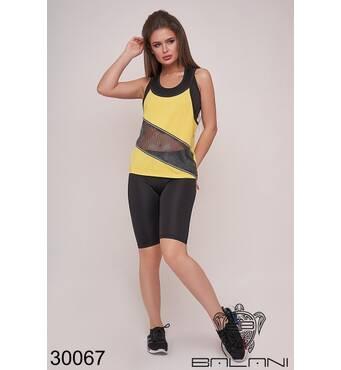 Костюм спортивный тройка  (желтый) - 30067
