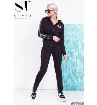 Спортивний костюм 47923 (чорний)